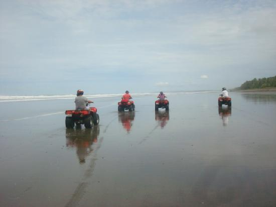 Paradise Breezes: ATVing on the beach!
