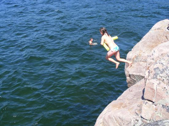 Nobel, Canada: rock jumping for the young at heart dare devils