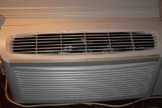 Emerald Palms Hotel and Conference Center: Broken AC with trash in it