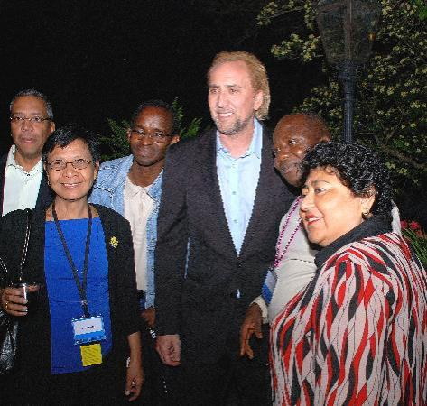 Edgar Degas House: Nicolas Cage at Amnesty International Event