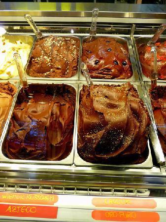 Il Massimo del Gelato: es gibt 9 verschiedene Schokoladeneissorten