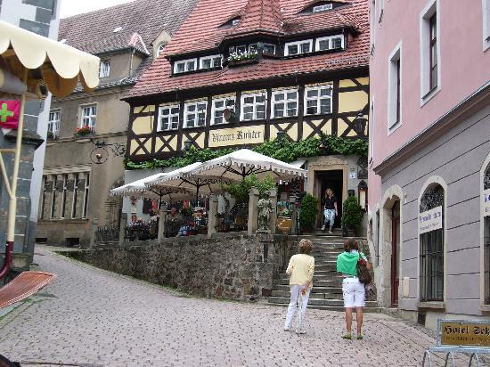 Мейсен, Германия: Ansicht des Restaurants und Aussenterrasse