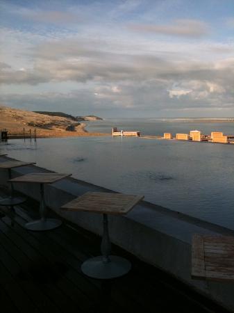 La Co(o)rniche: Vue au petit matin de la terrasse du restaurant
