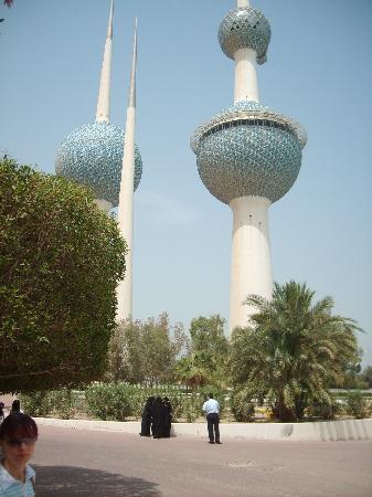 Kuwait City, Kuwait: Kuwait Towers mit Restaurant oben