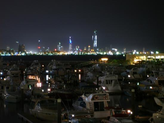 Kuwait City, Kuwait: Night over Kuwait