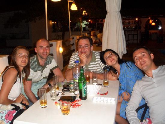 Villa Apollon Skiathos: dinner near the pool