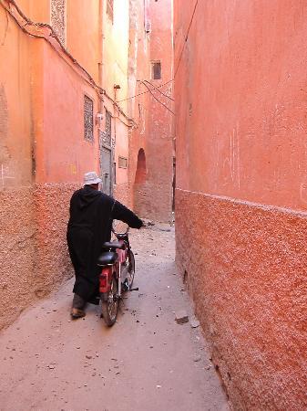 Marrakech, Morocco: A medina street