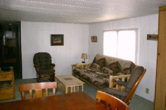 Yellowstone Wildlife Cabins: Bison Home Living Room