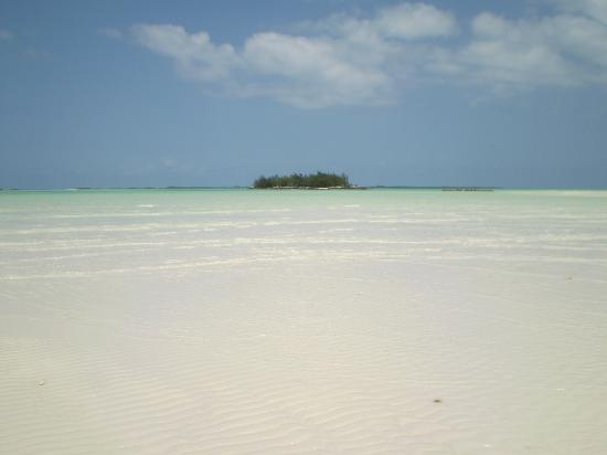 Treasure Cay, Great Abaco Island: Low tide at Sunrise Point