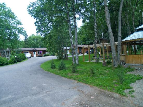 High Falls Motel and Cabins: Entrance to High Falls Motel