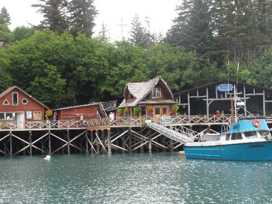 Halibut Cove, AK: Almost at the Saltry dock