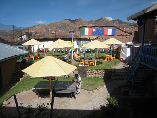 The Point Cusco: Outside patio
