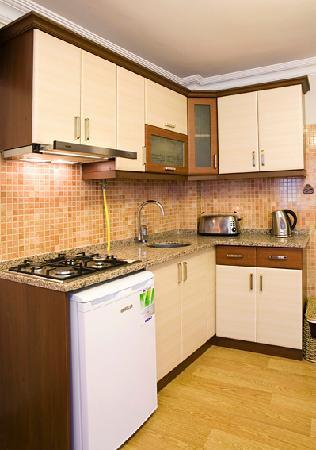 Sah Otel Apartment: kitchenette