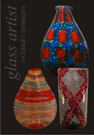 Murano Vases By Orlando Zennaro Picture Of Alice In Wonderland