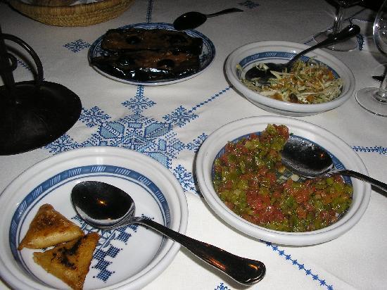 Riad Zamane: repas du soir 1