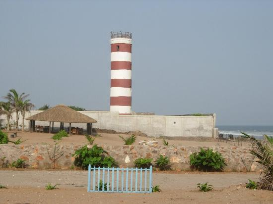 Palm Beach Hotel & Resort: Light House of Vizag--- Snap taken from inside Palm Beach Resort