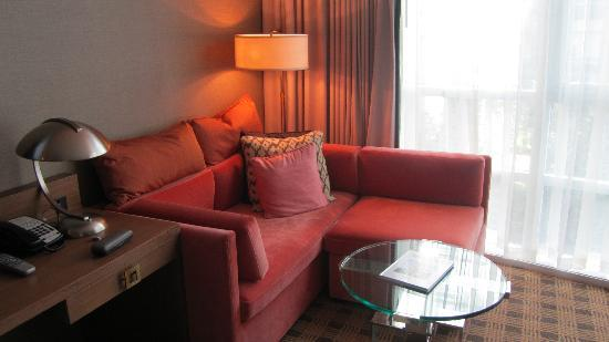 Loden Hotel: L-shaped sectional in corner of our room