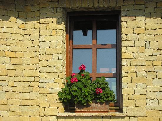 Kohegy Fogado: charming window on patio