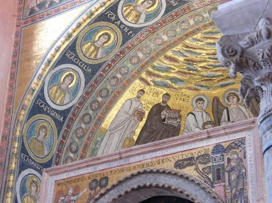 Porec, Croatia: the altar ceiling