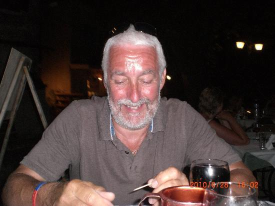 John enjoying meal @ Tropicana