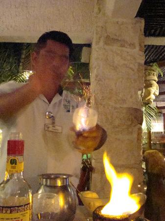 La Habichuela Downtown: coffe flambe