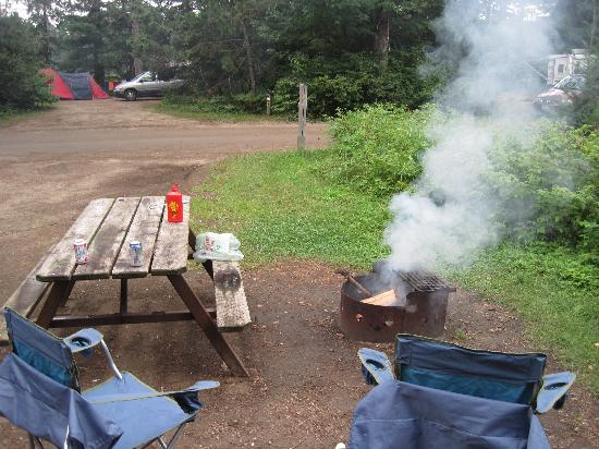 Mew Lake Campground: good fire pit