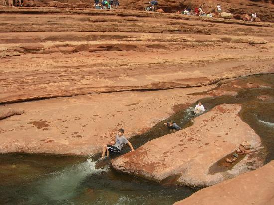 Slide Rock State Park : Slidding