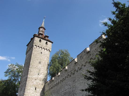 Luegisland Tower, one of the nine Museggmauer