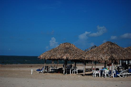 Arenas del Mar: Palapa Huts along the Gulf Coast; Madero, Miramar Playa, Tamaulipas, Mexico
