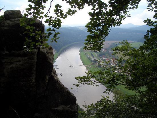 Бастай, Германия: Blick auf die Elbe