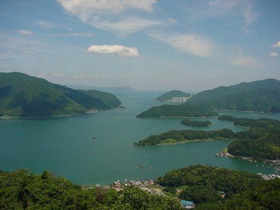 Maizuru, Japan: 五老ヶ岳から見下ろす舞鶴湾