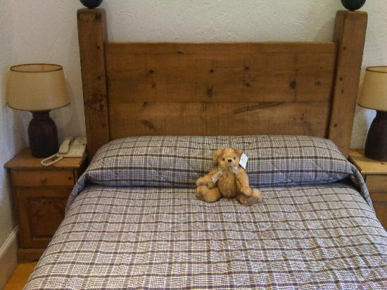 The Feathers Hotel: Big Bed with Bear