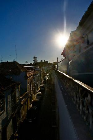 Residencial Mares: The view from the balcony, overlooking a narrow street