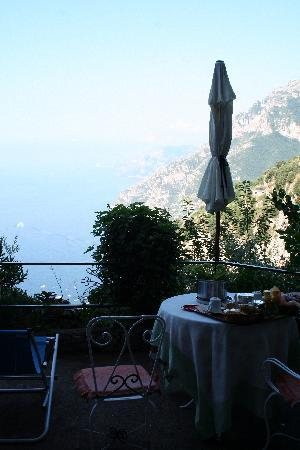 Villa Sofia Bed and Breakfast : breakfast with a VIEW!