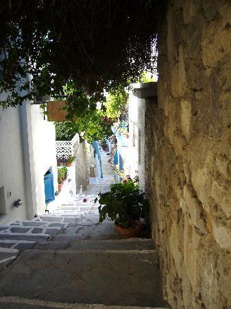 Pansion Anna Maria: Une ruelle de Naxos, proche de la pension