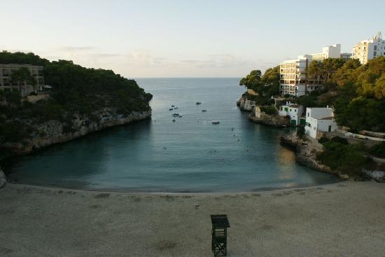 Santanyi, Espagne : Badebucht und Strand abends