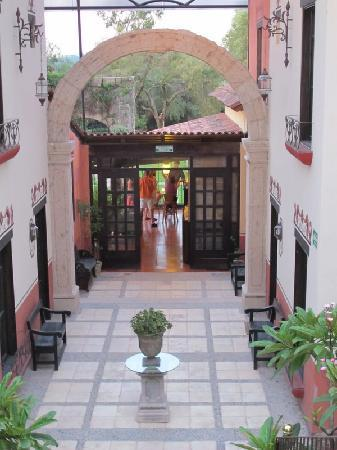 Hacienda La Magdalena Boutique Hotel: The entrance from upstairs