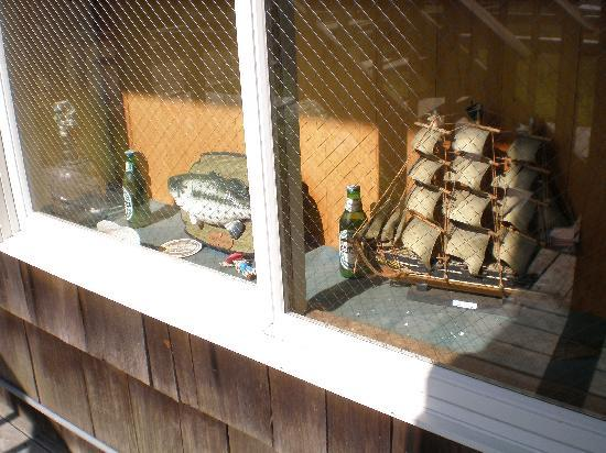 Sail Inn of Montauk: a display in the motel