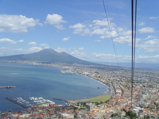 Castellammare Di Stabia, Italien: View from cable car