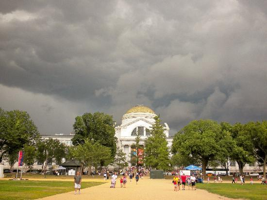 Washington DC, DC: Storm over the Natural History Museum