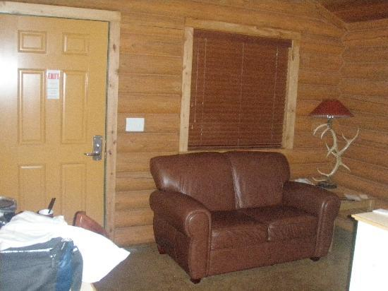 Alpine, WY: Living room of cottage