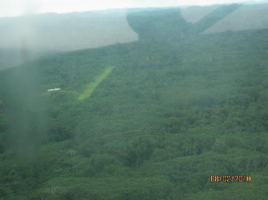 Huaorani Ecolodge: View of the community airstrip