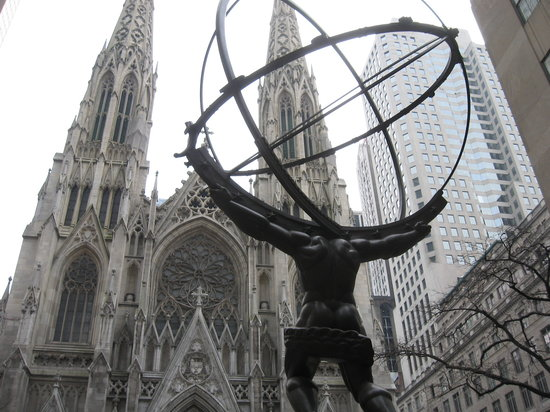 Atlas Before St. Patrick's Cathedral