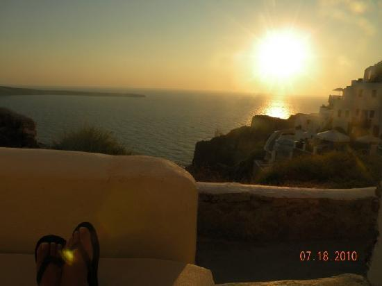 VIP Suites: Sitting on our room's terrace watching the sunset