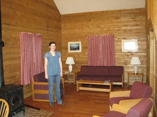 Roan Mountain, Τενεσί: living room of Roan cabin