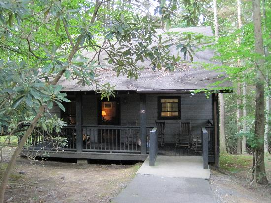 Roan Mountain, TN: outside view of Roan cabin