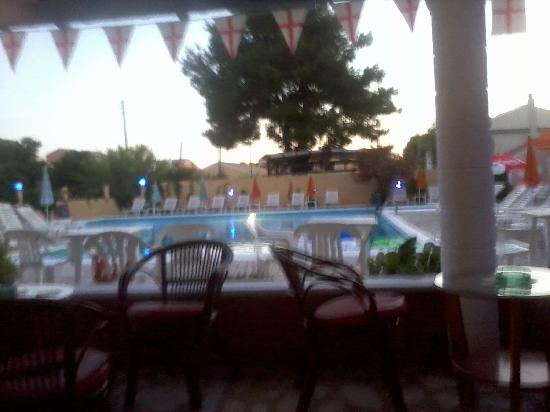 Tassos Apartments: view of pool from the bar