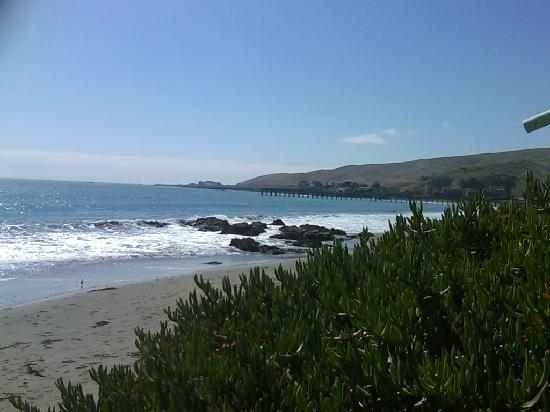 Beachwalker Inn: Cayucos beach and pier