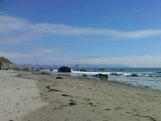 Beachwalker Inn: Beach of Cayucos, CA.