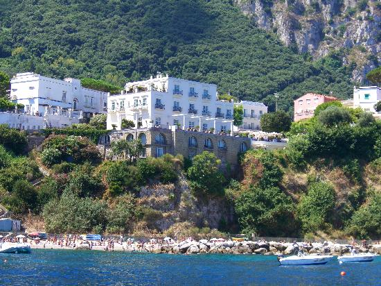 J.K.Place Capri: Hotel view from the sea